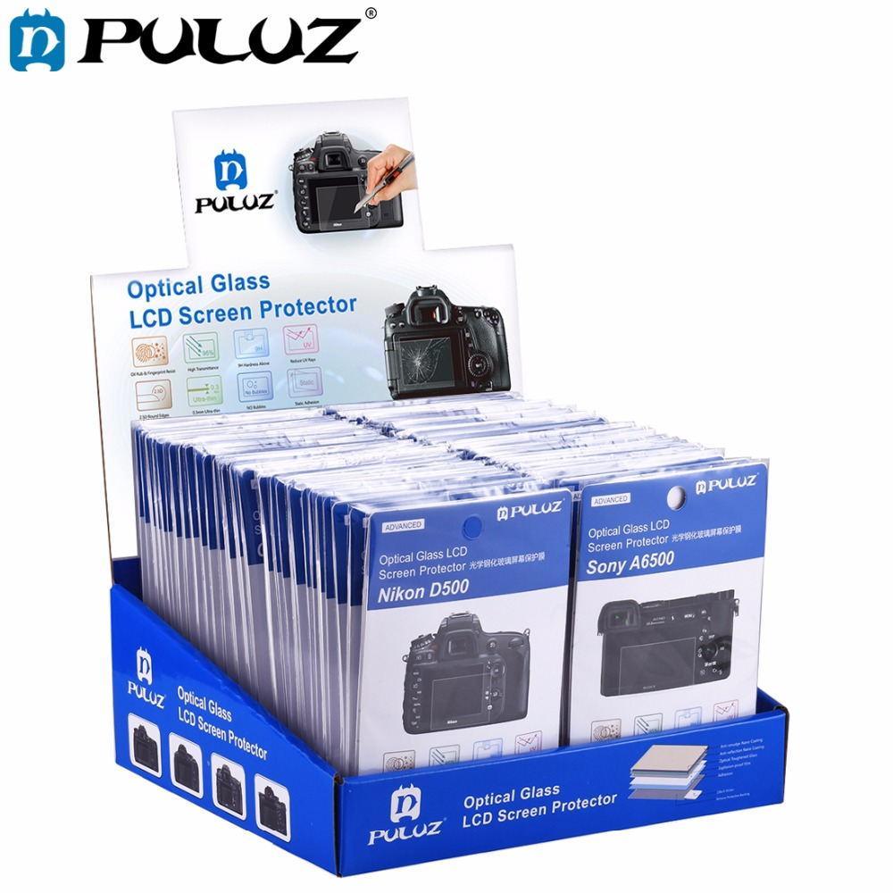 Wholesale 60 PCS/Lot PULUZ 2.5D Curved Edge 9H Surface Hardness Tempered Glass Screen Protector Kits for Canon 5D Mark IV/III