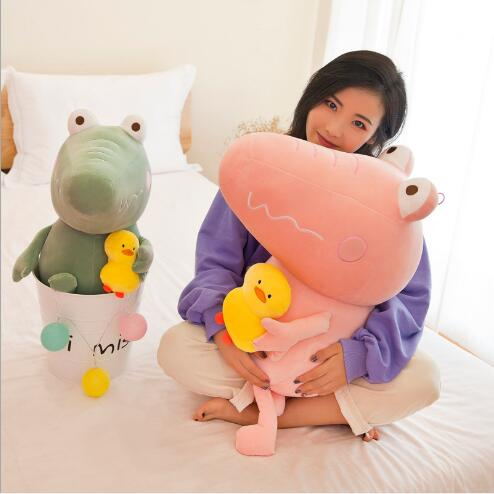 WYZHY Super soft crocodile duck plush toy doll doll sofa bedside decoration to send friends and children gifts 30CM in Stuffed Plush Animals from Toys Hobbies