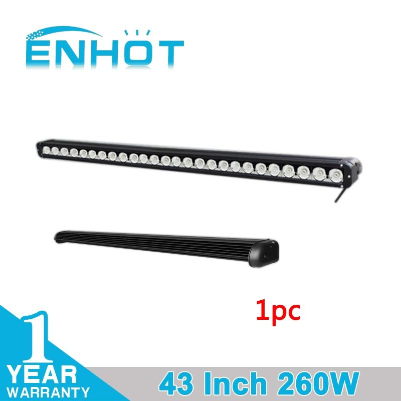 ENHOT 43 260W Cree CHIP LED Light Bar Flood Spot Combo Work Driving Light Bar For