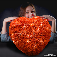 2019 Dropshipping Artificial Flower Rose Heart Shape LED Light Birthday gift for girlfriend Valentines Christmas Gifts for Girls