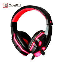 Magift Bass HD Gaming Headset Cool Glowing Mic Stereo Sound Wired Headphones With Microphone For Computer