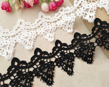 8cm Wide European Luxury Milk Silk Water Soluble Lace Fabric Clothing Collar Home Textile Edge Accessories Derss Decoration