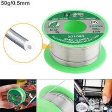 50g 0.5mm Environmental-friendly Lead-free Rosin Core Solder Wires with Flux and Low Melting Point for Electric Soldering Iron цена 2017