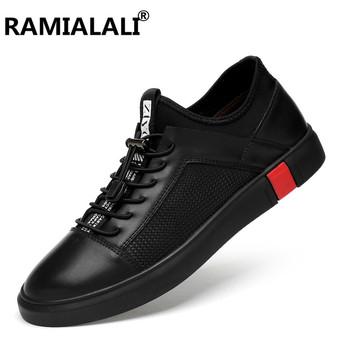 Prawdziwej skóry buty w stylu casual moda mężczyźni Sneakers oddychające wygodne męskie buty z prawdziwej skóry sznurowane mokasyny duży rozmiar 36-47 tanie i dobre opinie Dla dorosłych Przypadkowi buty Gumowe Oksfordzie Oddychająca Masaż Lace-up XIMO---F9517 Wiosna jesień Stałe Pasuje prawda na wymiar weź swój normalny rozmiar