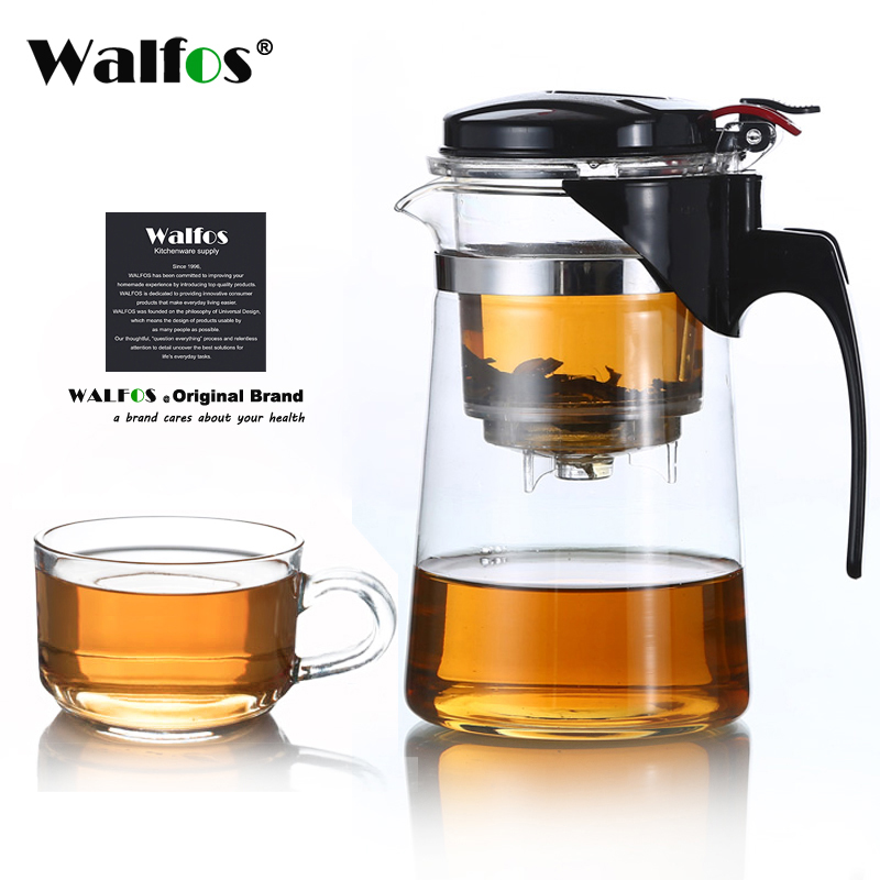 Heat Resistant Glass Tea Pot Flower Tea Set Puer Kettle Coffee Teapot Convenient With Infuser Office Home