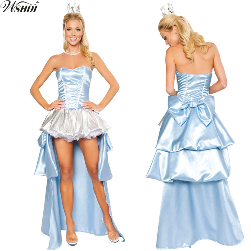 2018 Deluxe Sexy Cinderella Princess Costume Adult Ladies' Cosplay Halloween Masquerade Party Fancy Dress