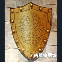Shipping Medieval Metal Craft Soldiers Steel Eagle Shield Film Props Studio Wall Decoration