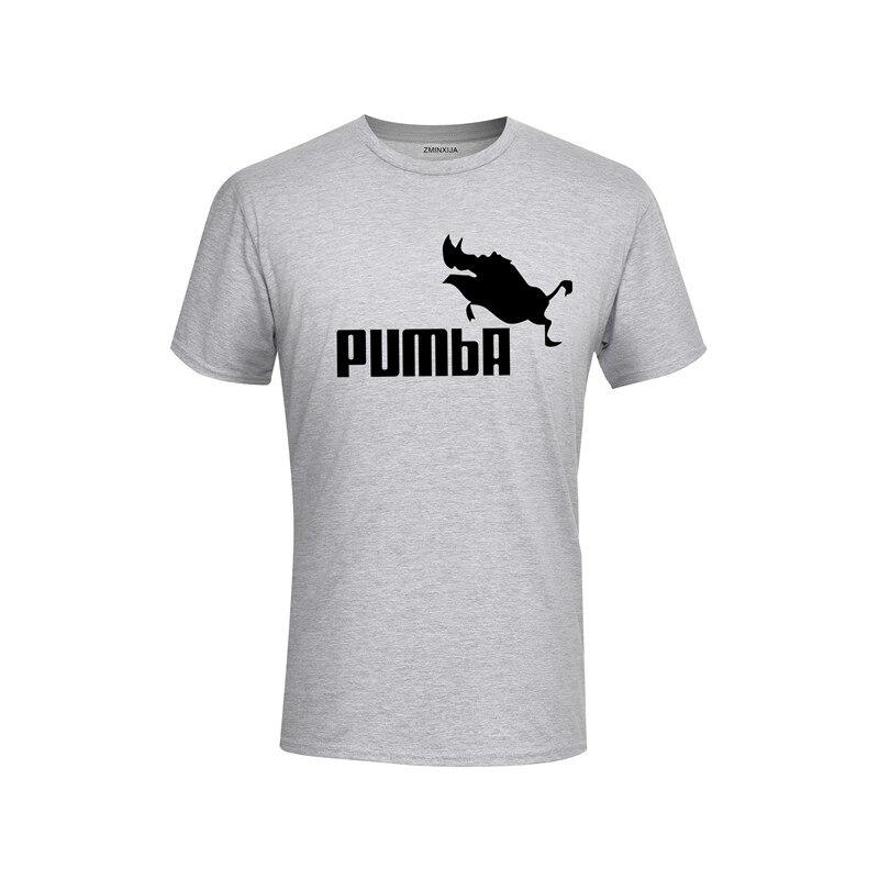 2018 Lustige T Nette T Shirts Homme Pumba Männer Kurzen ärmeln Baumwolle Tops T-shirt Kühle Sommer Jersey Kostüm T-shirt Xs-xxl