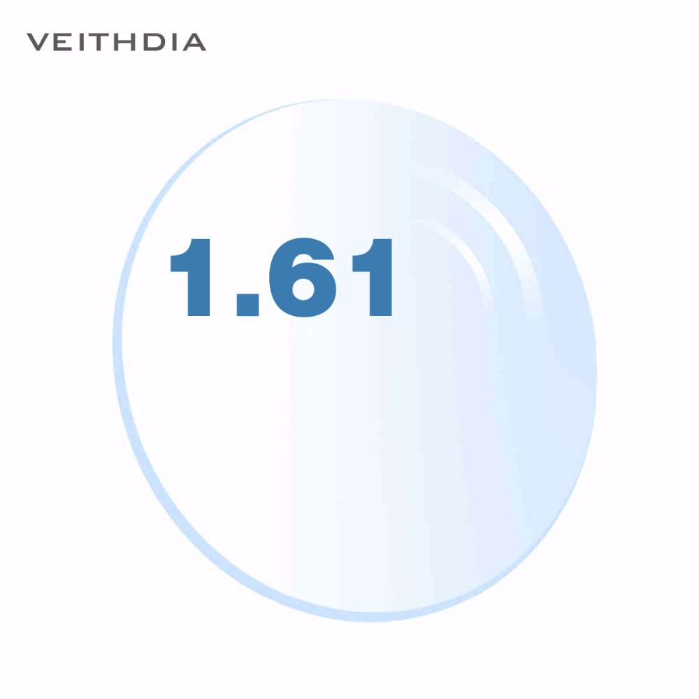 1.61 Index Aspherical Single Vision For Myopia / hyperopia 4.00-6.00 Degree Transparent Clear Lens