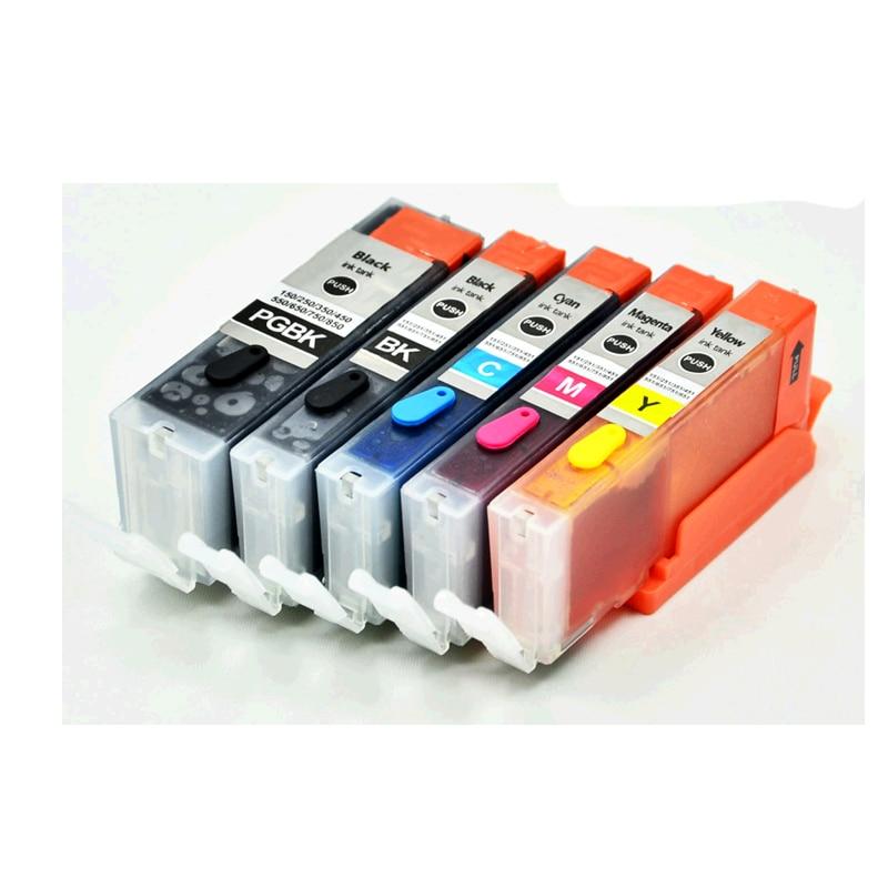 5PK для Canon 550 551 PGI-550 CLI-551 Совместимый картридж для Canon PIXMA MG5450/MG5550/MG6350/MG6450/MG7150/Ip7250/MX925