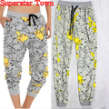 Pokemon Go Pikachu Pants Lounge Jogger Pajamas Sweatpant Slacks Drawstring Pants Cosplay