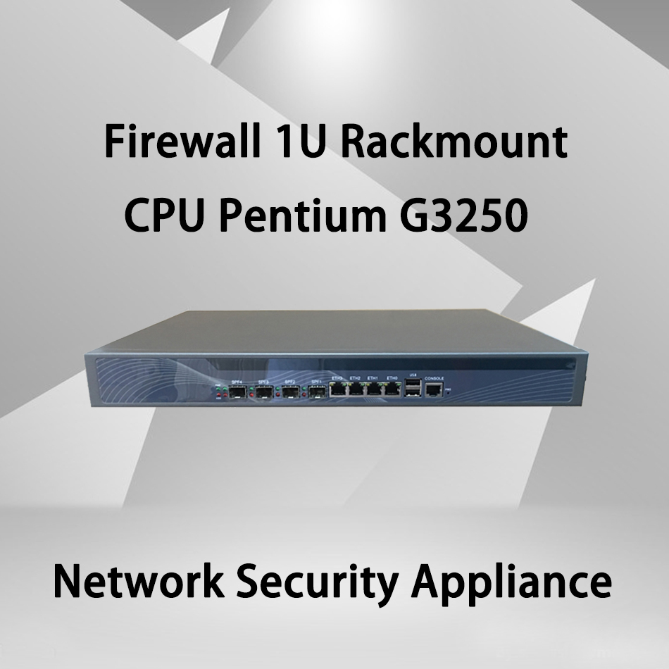 Firewall Mikrotik Pfsense VPN Network Security Appliance Router PC Intel Pentium G3250,[HUNSN SA21R],(4LAN/2USB/1COM/1VGA)