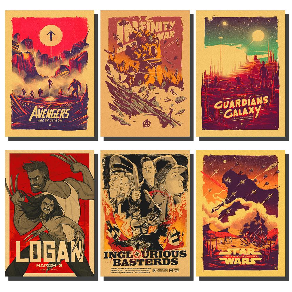 Marvel Comics Movie Poster / Retro Avengers Star Wars Various Classic Posters