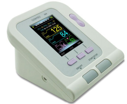 Ambulatory Automatic Blood Pressure NIBP Holter arm cuff tonometercolor LCD display Digital sphygmomanometer with CD software btl cardiopoint holter h100