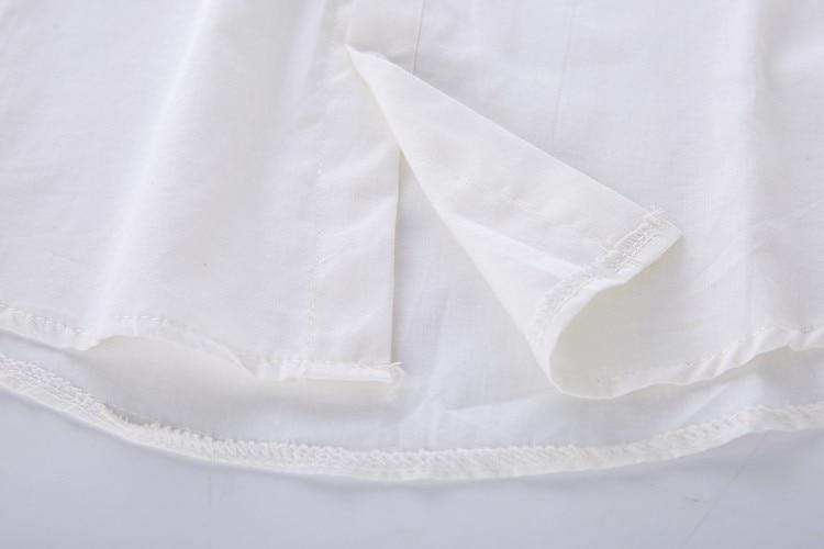 13 Modele Preppy Stili Bluzë e Bardhë Vajzat Pambuku E lezetshme e - Veshje për femra - Foto 6