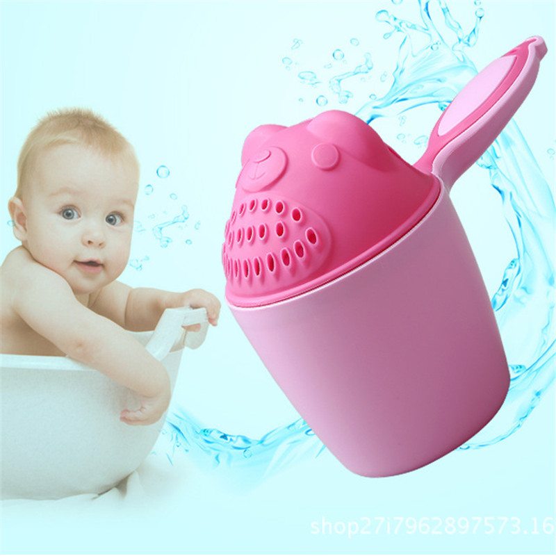 Cartoon Baby Bath Caps Baby Shampoo Cup Children Bathing Bailer Baby Shower Spoons Child Washing Hair Cup Kids Bath Tool#*