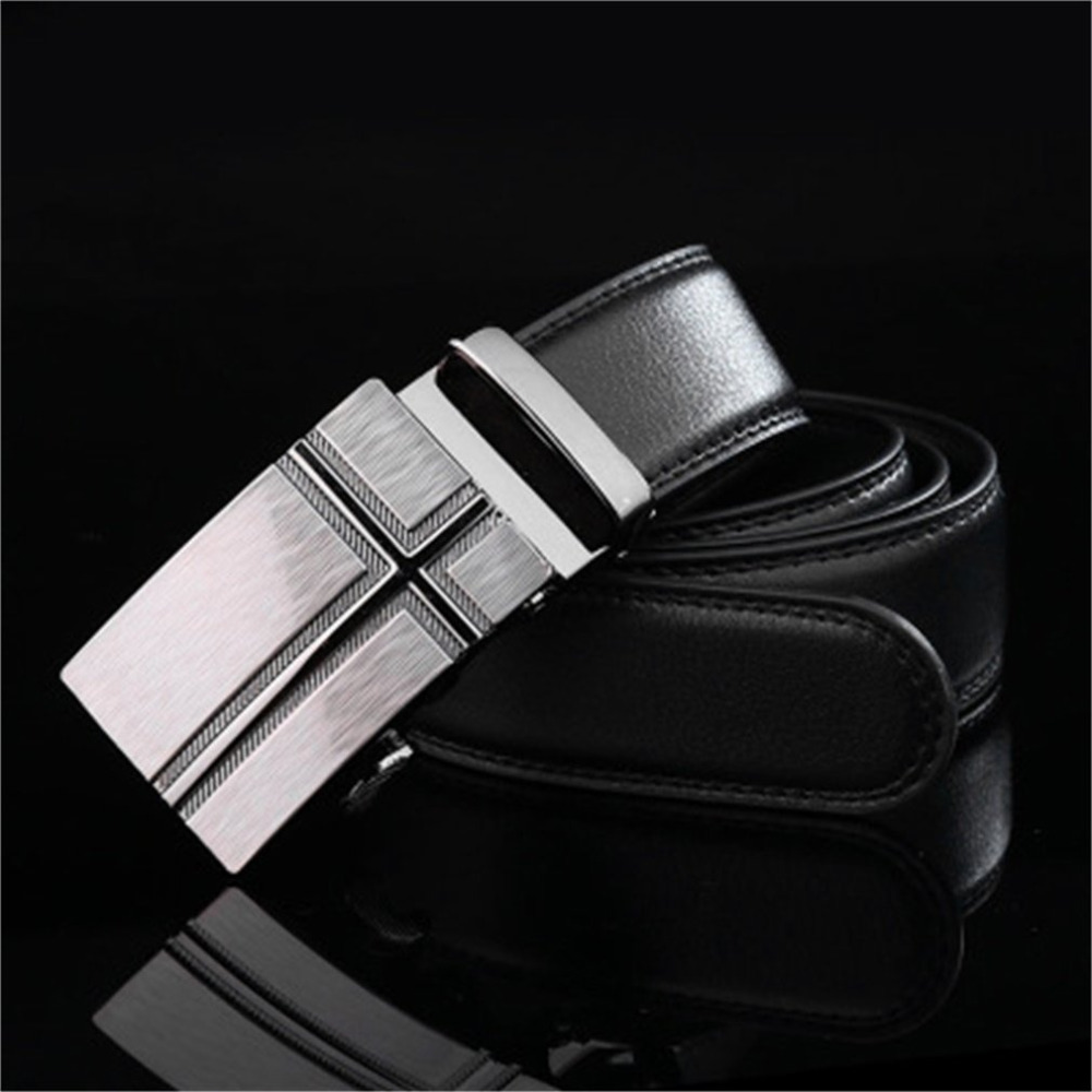 Classical Men's Automatic Belt Black Male Buckle Leather Belts Fashionable Business Waist Strap Belt For Men 2018 New Arrival