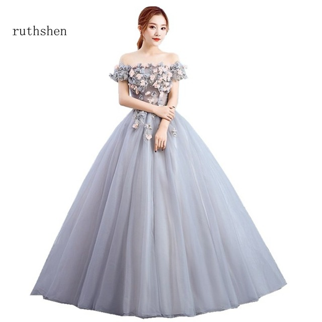 ruthshen Quinceanera Dresses Sexy Off The Shoulder Sweet 16 Ball Gowns  Cheap 2018 Debutante Prom Dresses For Special Events 25bae8032fde