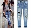 Starlist Loose Straight Softener Bleached Zipper Mid Distressed Vintage Demin Jeans Pants Light  Bottom