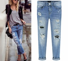 Starlist Loose Straight Softener Bleached Zipper Mid Distressed Vintage Demin Jeans Pants Light  Bottom