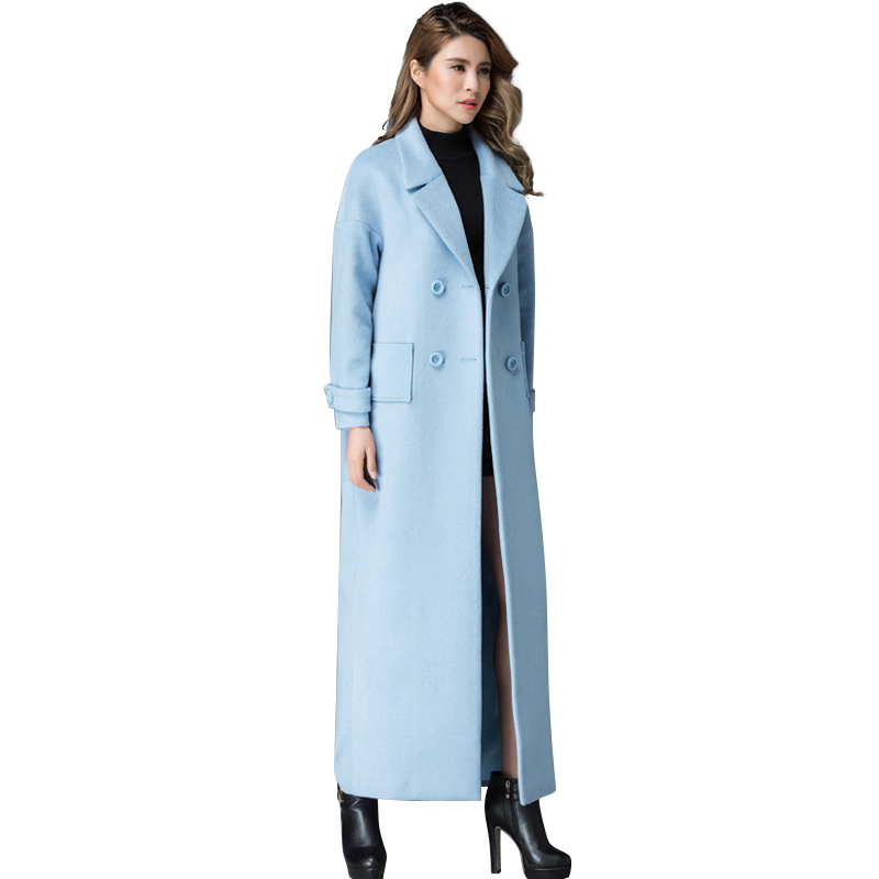 Compare Prices on Women Light Blue Wool Coat- Online Shopping/Buy