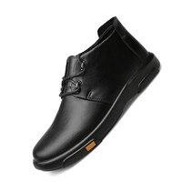Genuine Leather Erkek Bot Men Boots Autumn Winter Ankle Boots Fashion Casual Footwear Shoes Men Shoes Zapatos De Hombre XX 349