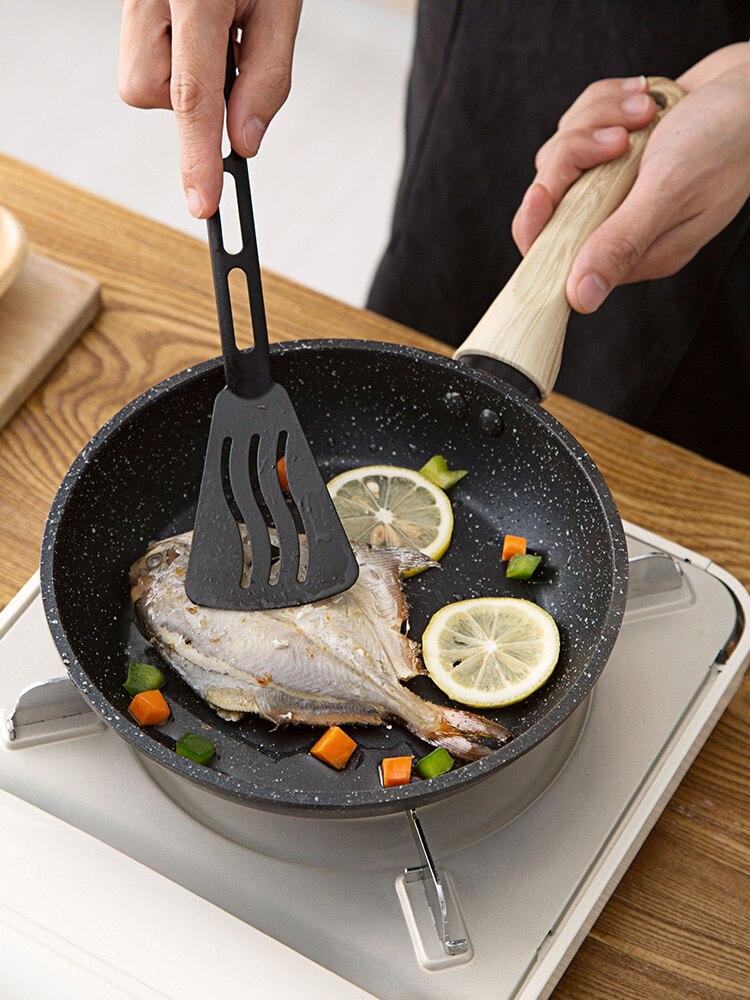 1 pc petite poêle à frire en pierre Maifan poêle antiadhésive cuisinière à Induction domestique Omelette poêle à frire Pancake Pot à Steak
