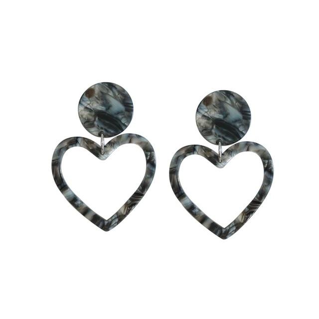 Модные серьги-гвоздики в форме сердца, в форме сердца, в форме персика, в форме сердца, из акрила, Корея