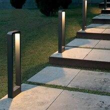 IP68 إضاءة مقاومة للماء مصباح حديقة 15W COB الصمام الخارجي عمود الإشارة الضوئية AC85 265V DC12V في الهواء الطلق الطابق حديقة فناء إضاءة الشارع