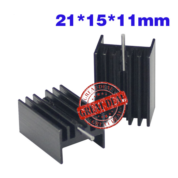 Free Shipping Wholesale 100PCS Aluminum To220 Heatsink 20*15*11mm IC Heatsink Transistor With Pin