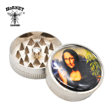 Hornet 40mm 2 molinillo de niveles para tabaco molinillo de hierbas de plástico trituradora de humo estilo Rasta de Jamaica