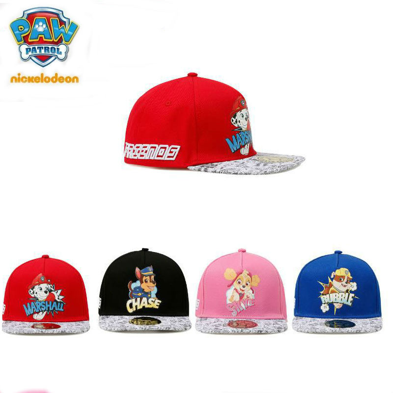 43e9ff7d87c Genuine Paw Patrol Baby hat Children Snapback hat For Kids Girl Boy Hip Hop  spring cap chase marshall rubble skye 1pc 4 color