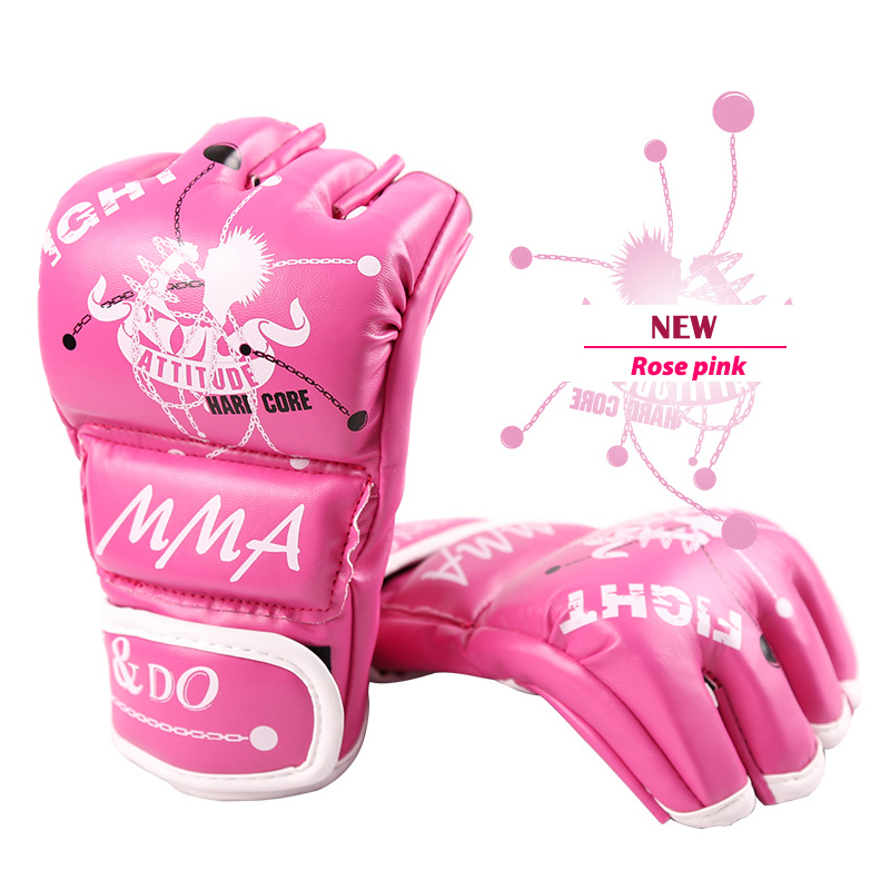 MMA Gloves Women Grappling Martial Arts Sparring Punching Bag Ladies Cage <font><b>Fighting</b></font> Maya Hide Leather Mitts Girls Combat image