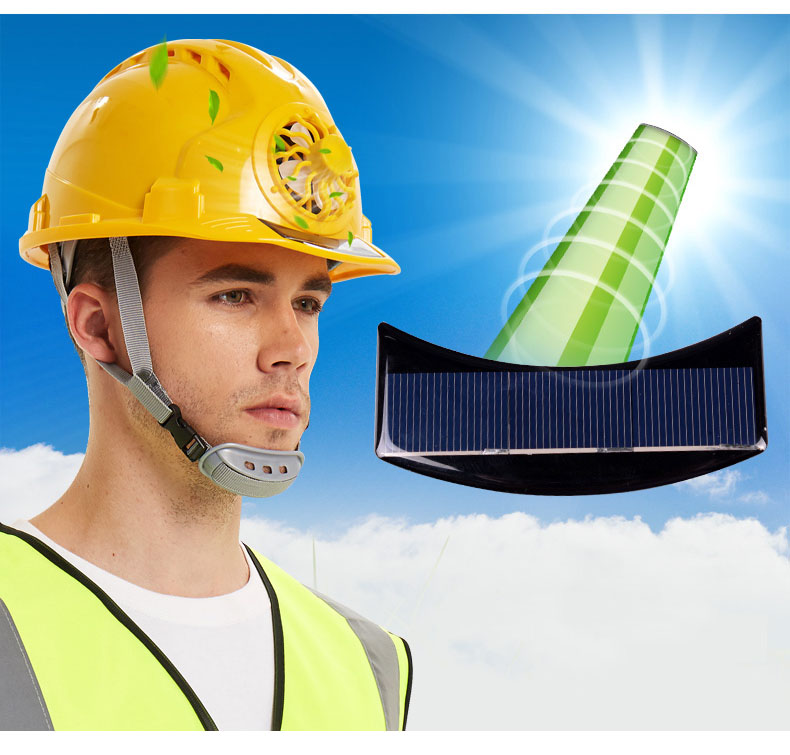 Solar Power Fan Helmet Outdoor Working Safety Hard Hat Construction Workplace ABS material Protective Cap Powered by Solar Panel (17)