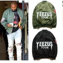 Новый Куртка Мода Хип-Хоп Мужчины Бренд YEEZUS Куртка Камуфляж Ввс Полет Бомбардировщик Куртка Мужчины Куртка Yeezy Kanye West