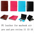 Кожаный PU защитный чехол для mac book pro 13 15 retina 13 15 ноутбук сумка для ноутбука протектор для macbook air 13 11 12