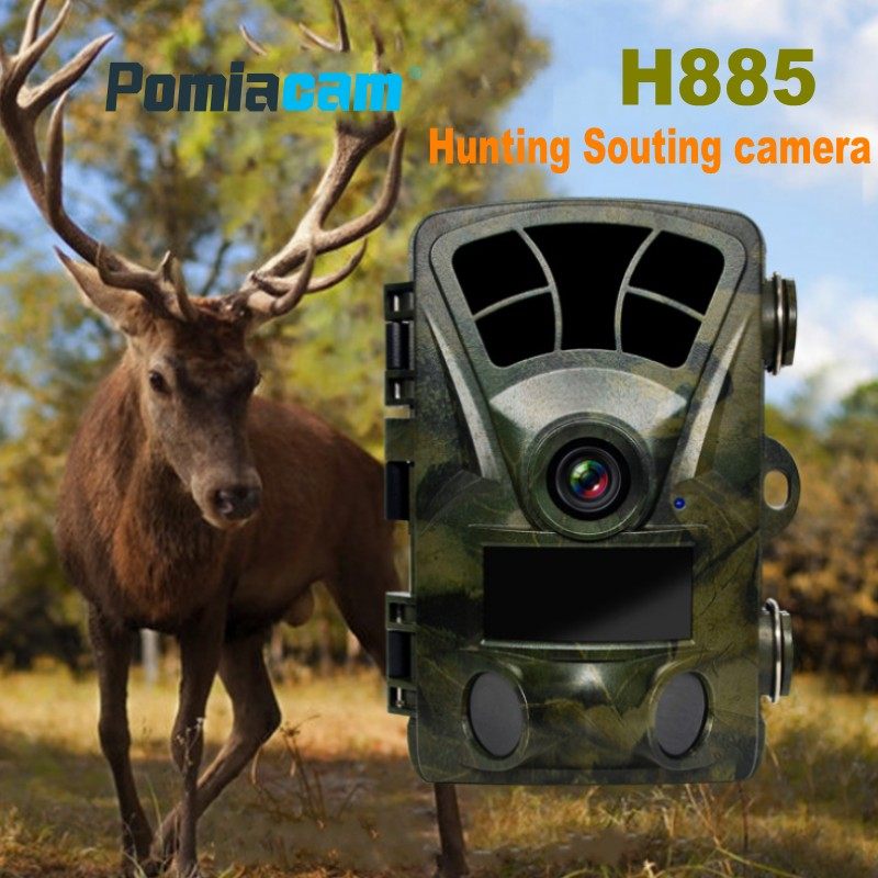 """H885 2.4"""" LCD Digital Hunting Trail Camera 16MP 1080P Wildlife Scouting Game Camera 65ft/20m IR Night Vision Wide Angle Camera"""
