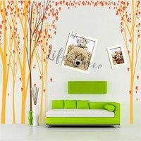 Кленовый лист Дерево виниловая настенная наклейка в детскую комнату украшение лесная тематика настенные художественные наклейки для детс