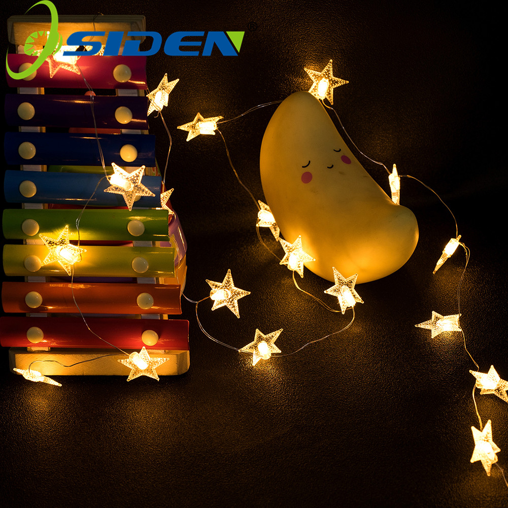 Garland Fairy LED Star String Lights Waterproof 20/50LEDS For Christmas Tree Wedding Home Indoor Decoration Battery USB Powered