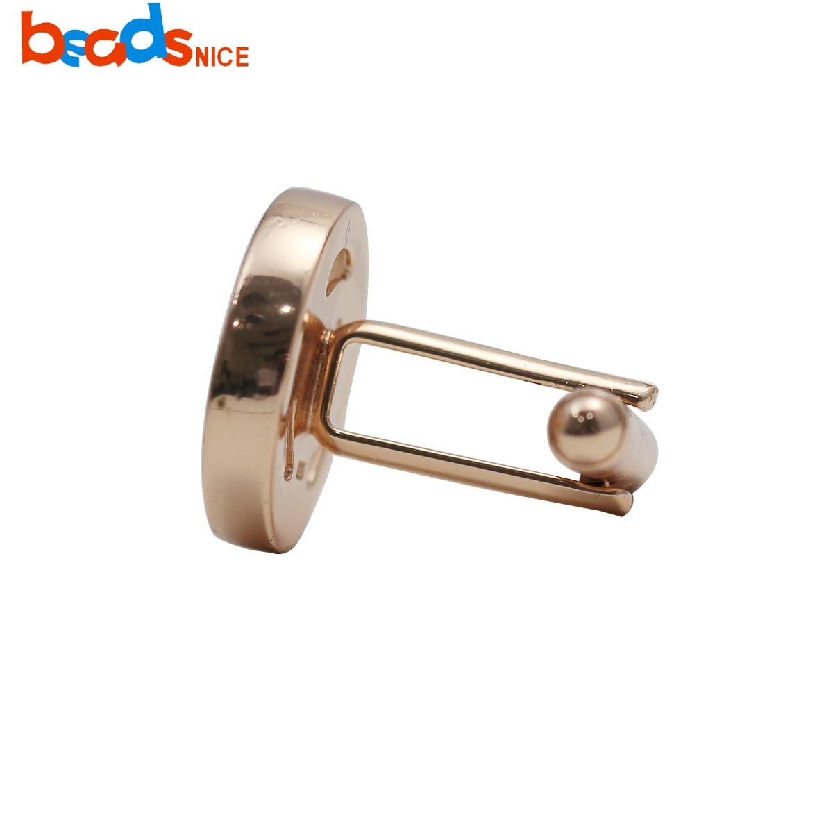 Beadsnice  925 sterling silver cufflinks base for men's jewelry making ID 38062