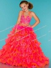 100% zufriedenheit ballkleid nach maß bodenlangen rosa festzug mädchen kleid 2016 kinder prom kleider