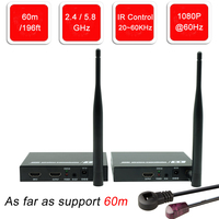 Navceker ZY DT211W Wireless HDMI Video TV Transmitter Receiver WIFI 60m Wireless HDMI Extender HD Wireless Transmission System