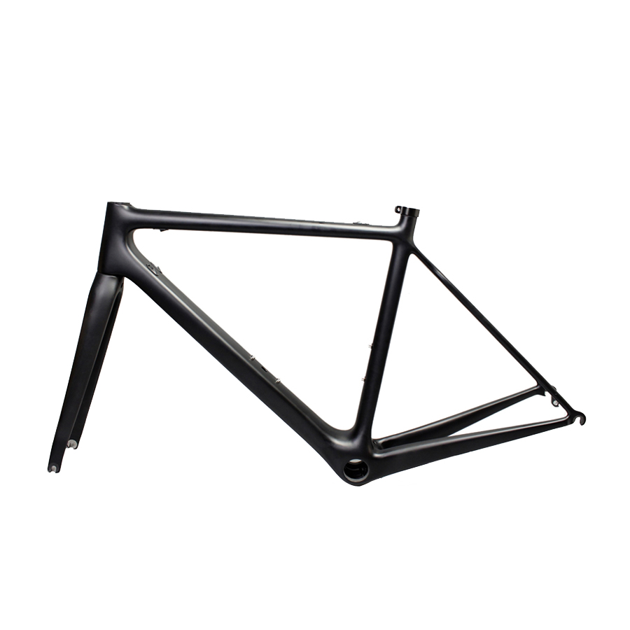 raod bike frame carbon fiber 51cm 54cm 56cm matte black Bike frame Fixie Bicycle 700C Frame 53cm 55cm 58cm fixed gear bike frame matte black bike frame fixie bicycle frame aluminum alloy frame with carbon fork
