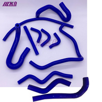Silicone Radiator Hose For Toyota Altezza Lexus RS200 SXE10 IS200 98 05 (11pcs) red/blue/black