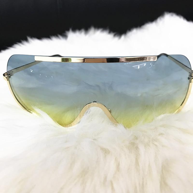 Rimless Gold Clear Sunglasses Men Women Brand Designer Aviator Clear Sunglasses 14