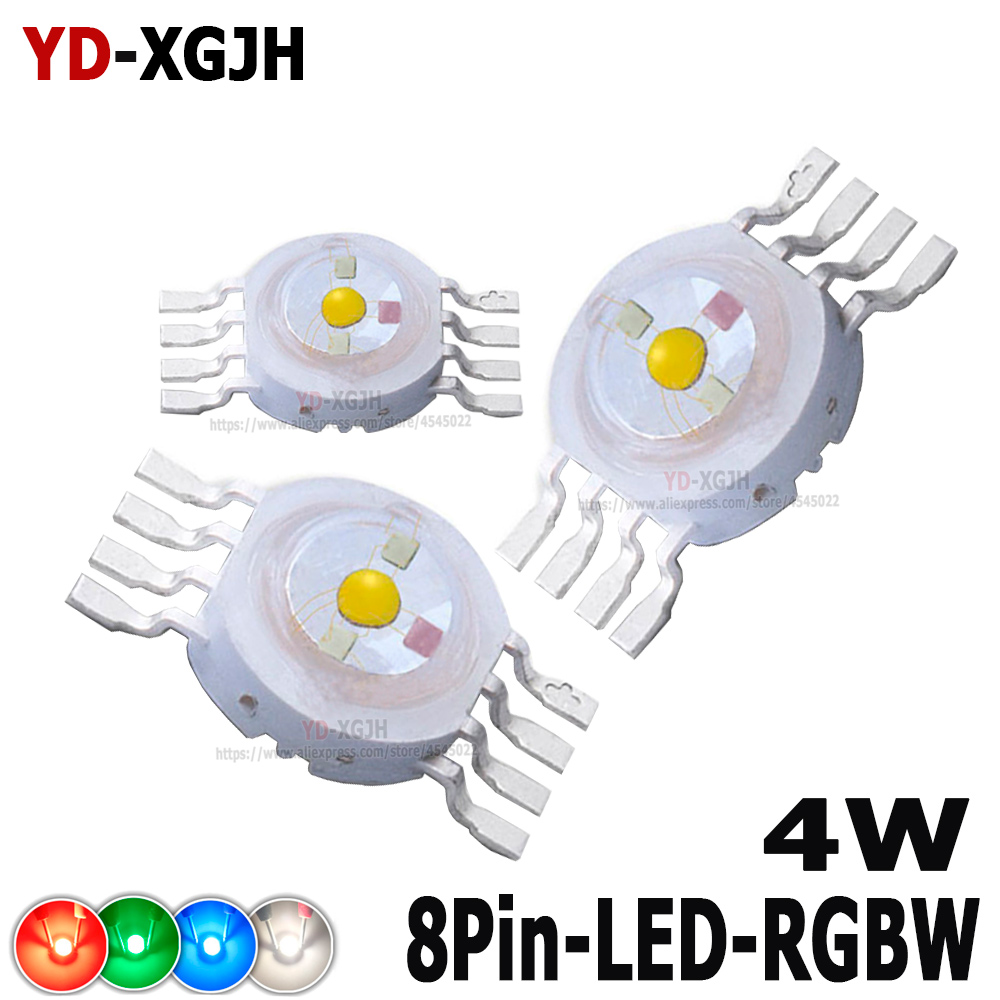 High Power LED 8Pin RGB  RGBW RGBWW LED Chip Stage Light Beads For 4W 30Mil RGBW DIY Molding LED Stage Light Source Beads