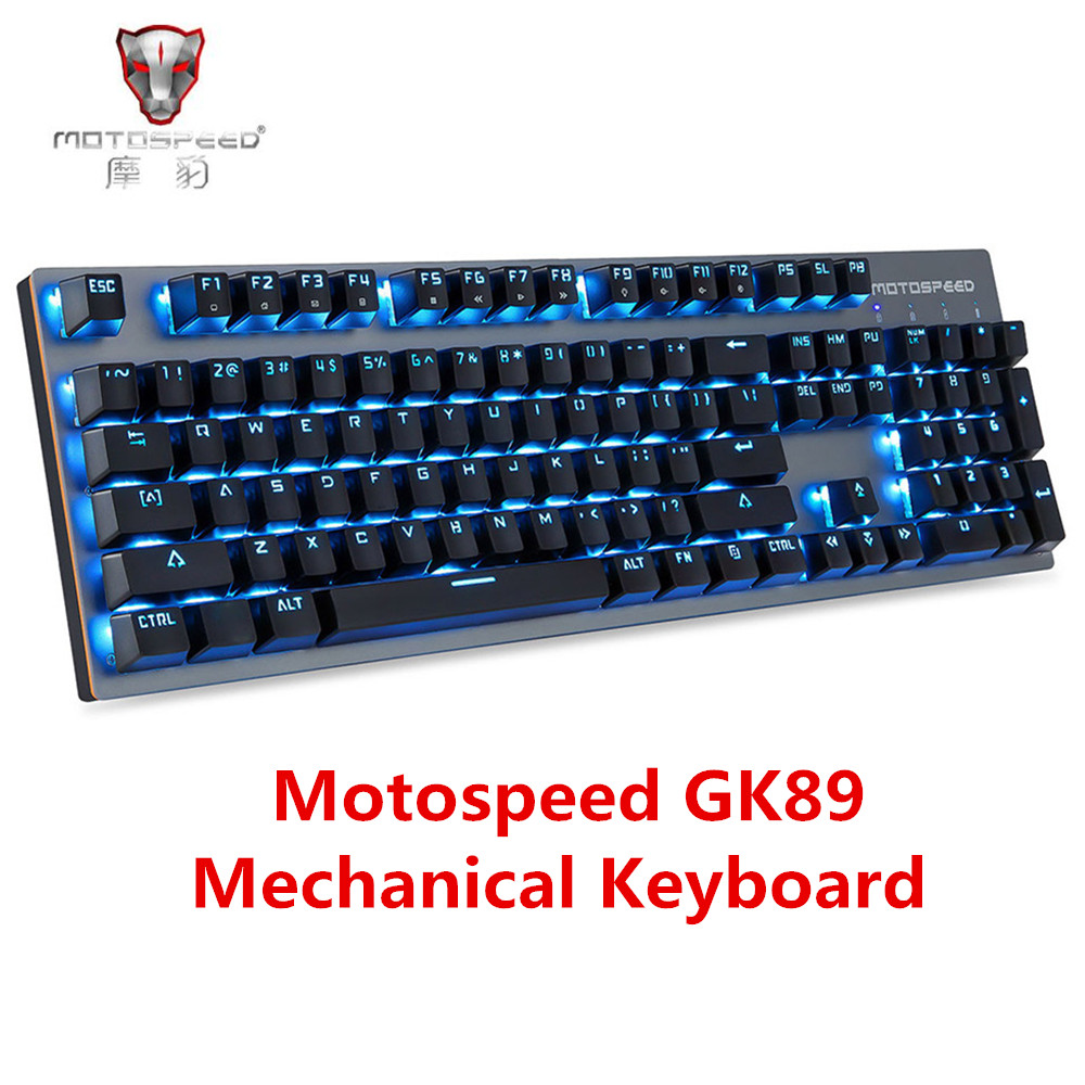 Motospeed GK89 2.4GHz Wireless / USB Wired Mechanical Keyboard 104Keys With RGB Backlit Wireless Gaming Keyboard For Gamer motospeed g118 usb 2 0 wireless 1200dpi
