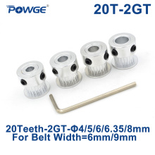 Timing Pulley Belt-Width Small 2MGT 20-Teeth-2gt POWGE 6/10mm Backlash Bore for GT2 Synchronous