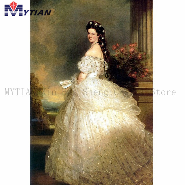 5d Diamond Painting Kit,Full Round Square Drills Sissi Empress Of Austria Diamond Embroidery Mosaic Home Decoration Wall Sticker