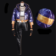Akali LOL Cosplay Costume KDA Clothes Set K/DA Group Anime Halloween Party Costumes For Women With Jacket Gloves